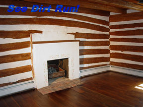 log home interior stain