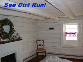 Log home interior stain sealer finish restoration md va wv for How to stain log cabin