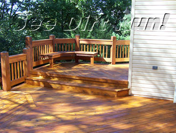 Cedar deck stripped and sealed