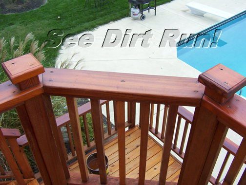 Cedar deck washed and sealed - Click me!