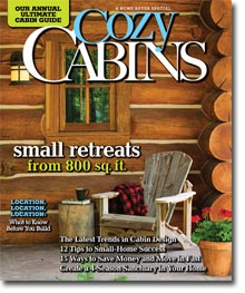 Cozy Cabins Ultimate Cabin Guide 2011 issue cover