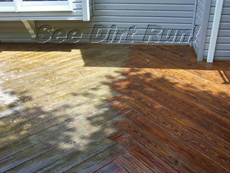 Log Home Stripping deck stripping