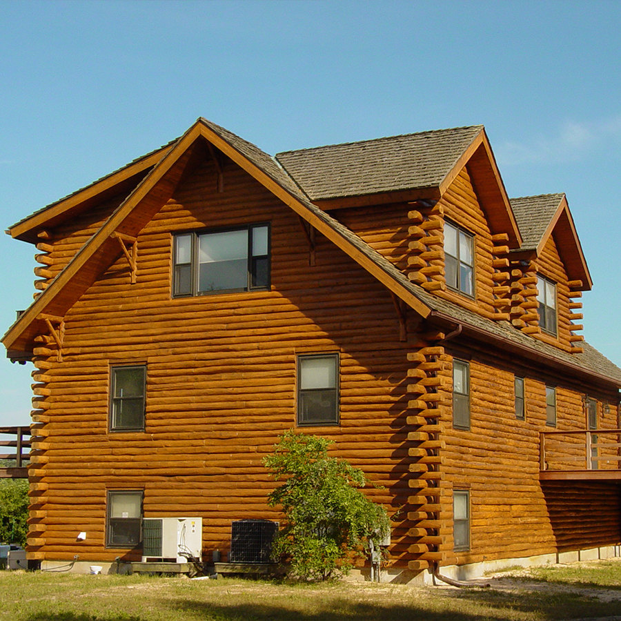 Log home restoration deck washing and sealing low autos post for Home design restoration