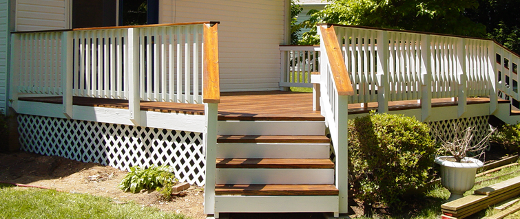 3 Color Deck Ideas : Two tone deck staining sealing maintenance md va