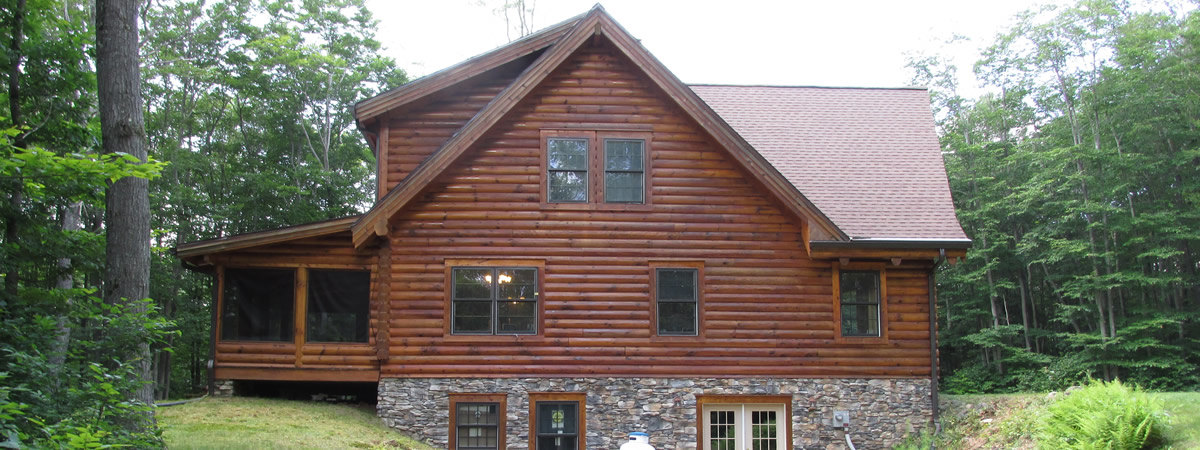 Woodguard stains preservatives log homes cabins md va wv How to stain log cabin