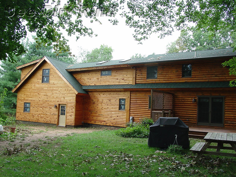 Log Home stripping and Maintenance Washing