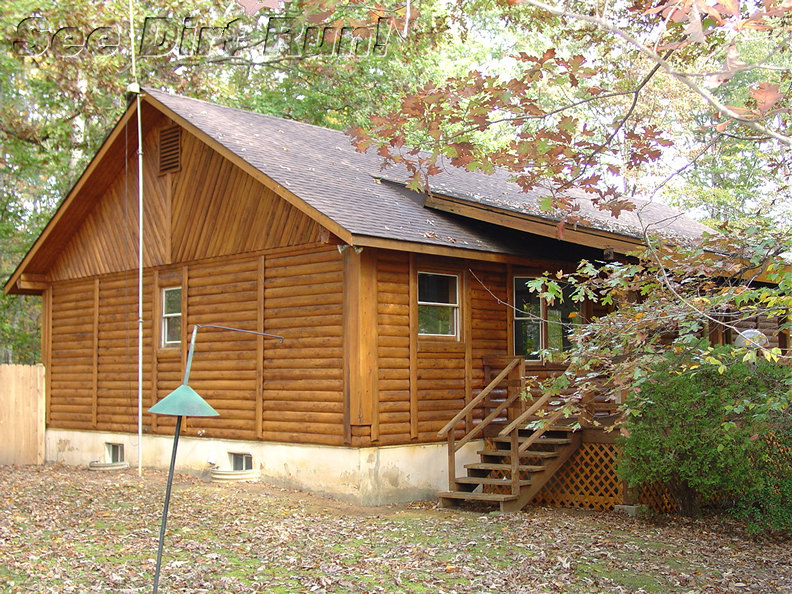 Log Home Sealed Natural & Satin