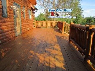 Cedar Log Rails