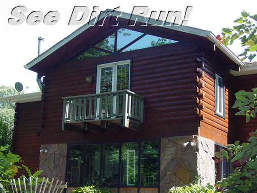 Log Home Sealed Bronze & Satin