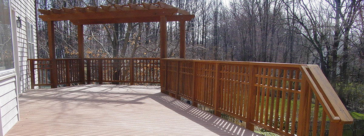 Composite and cedar deck